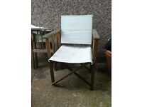 Pair of Directors Chairs - in need of a little TLC