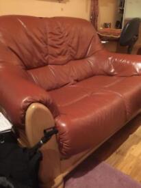 3 /2 Seater Leather Sofa set