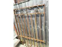 """WROUGHT IRON GATE HEIGHT 54"""" WIDTH 34.3/4"""""""