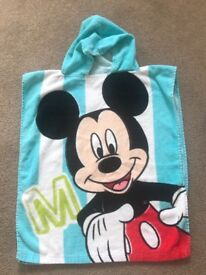 Mickey Mouse hooded beach towel one size