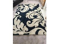 NEXT Black & Cream patterned Rug