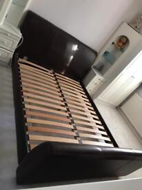 John lewis leather king size bed