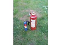 2 x Antique fire extinguishers