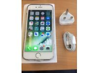 iphone 6 16 gb silver and white fully working UNLOCKED with box and charger