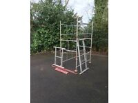 Scaffold Tower good for gutters and painting outside of house
