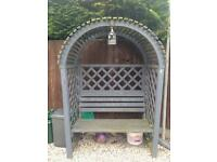Garden sheltered bench