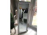 Silver/grey bevel edged mirror