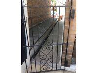 Wrought iron gate black