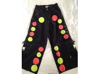 Custom made MacGear Raving Clubbing Festival trousers