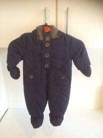 Faux Fur Trim Snowsuit / Pram Snow suite