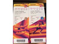 2017 IAAF World Athletics Championships Tickets - Sunday 13th August, PM Session 14 (Cat. B tickets)