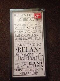 new bathroom canvas