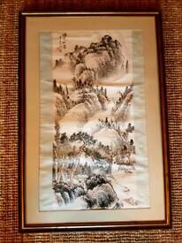 CAN DELIVER Original Japanese watercolour in frame