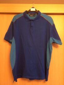 Hippo Men's Golfing Shirt XXL Two Tone Blue.