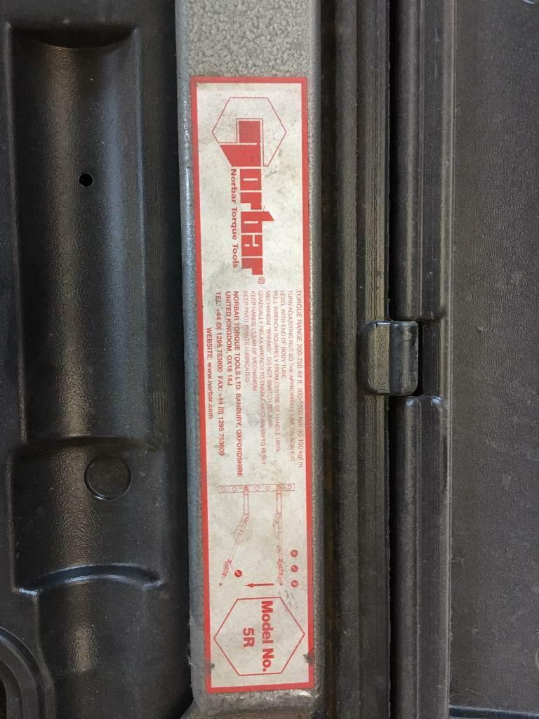 Norbar 5R Industrial Torque Wrench | in South Shields, Tyne and Wear |  Gumtree