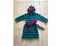 Boys Dinosaur Dressing Gown, Age 6-7, Mint Condition