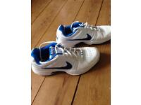 Nike White and blue trainers, In great condition, size 8