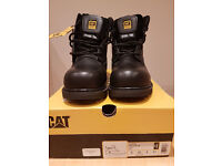 CATERPILLAR HOLTON SAFETY BOOTS UK SIZE 8 NEW IN BOX