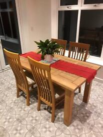 Dining table and console