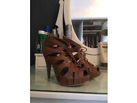Dark nude heels £5 size 5