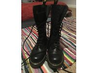 Size 4 Calf hight Doc Martins, worn twice!