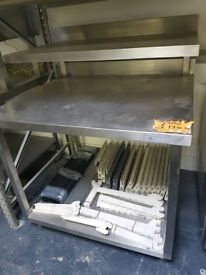 TWO TIER COMMERCIAL KITCHEN TABLE AST162