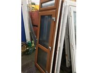 Golden Oak effect Upvc Door (895 x 2370) £175 (2 keys for the door and 1 for top opener)