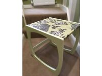 Green hand painted table