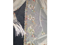 Beautiful embroidered and sequined scarf / shawl.