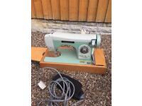Pinnock vintage antique sewing machine in original case manual