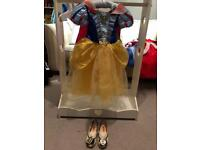 Disney Store Snow White princess dress and shoes age 3-4
