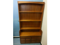 Large and lovely teak shelving unit with cupboard - Made by Nathan Furniture