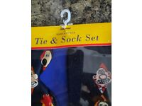 Wallace and Gromit socks and tie set