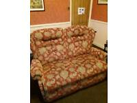2 seater sofa & 2 chairs all reclining