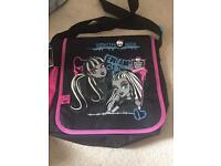 Monster high school messenger bag new