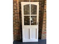 Exterior white painted Door