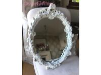 Stunning petite French Rococo style mirror