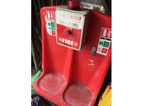 Portable construction site Fire Alarm point with built in Klaxton £25