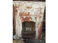 1930's cast iron fireplace, lovely casting.