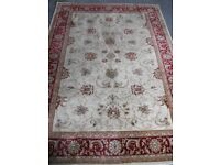 LARGE ORIENTAL CLASSICS RUG (by B&Q) - (cream/red).