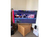 "Sony Bravia 3D, 4K LCD Screen, Sony 5YG,55"" inch colored TV."