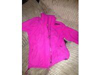 Pink superdry jacket size M