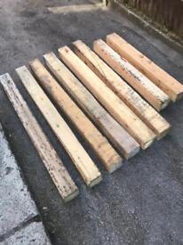 Reclaim wood sleepers edging garden logs heavy duty 5 x 5 inch rustic