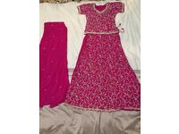 Like new -Diamonte pink lengha/anarkali- really cheap