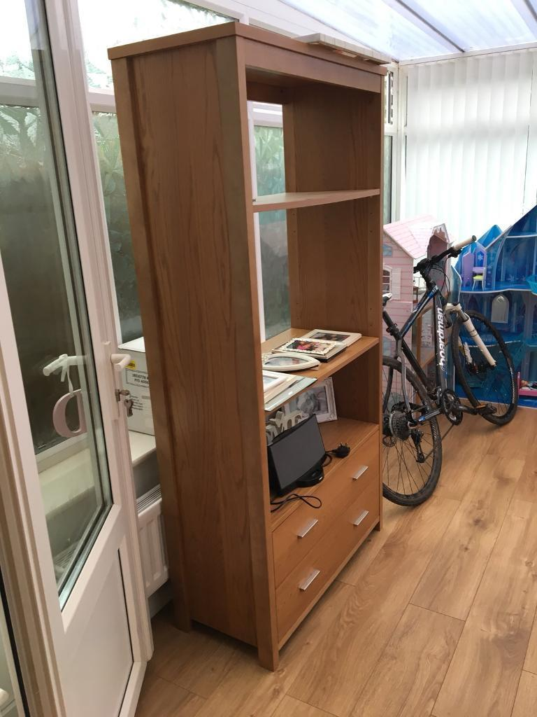 Oak unit approx 6ft tall exc cond gosforth area