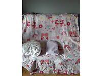 Girls single butterfly bed set.