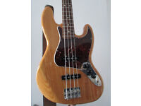 Fender Special Edition Deluxe Ash Jazz Bass, stunning, new strings, Mexican