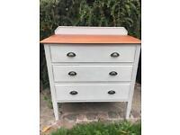 Shabby chic oak drawers in Annie Sloan