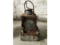 vintage paraffin railway lamp