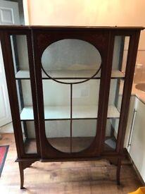 Inlayed Edwardian display cabinet